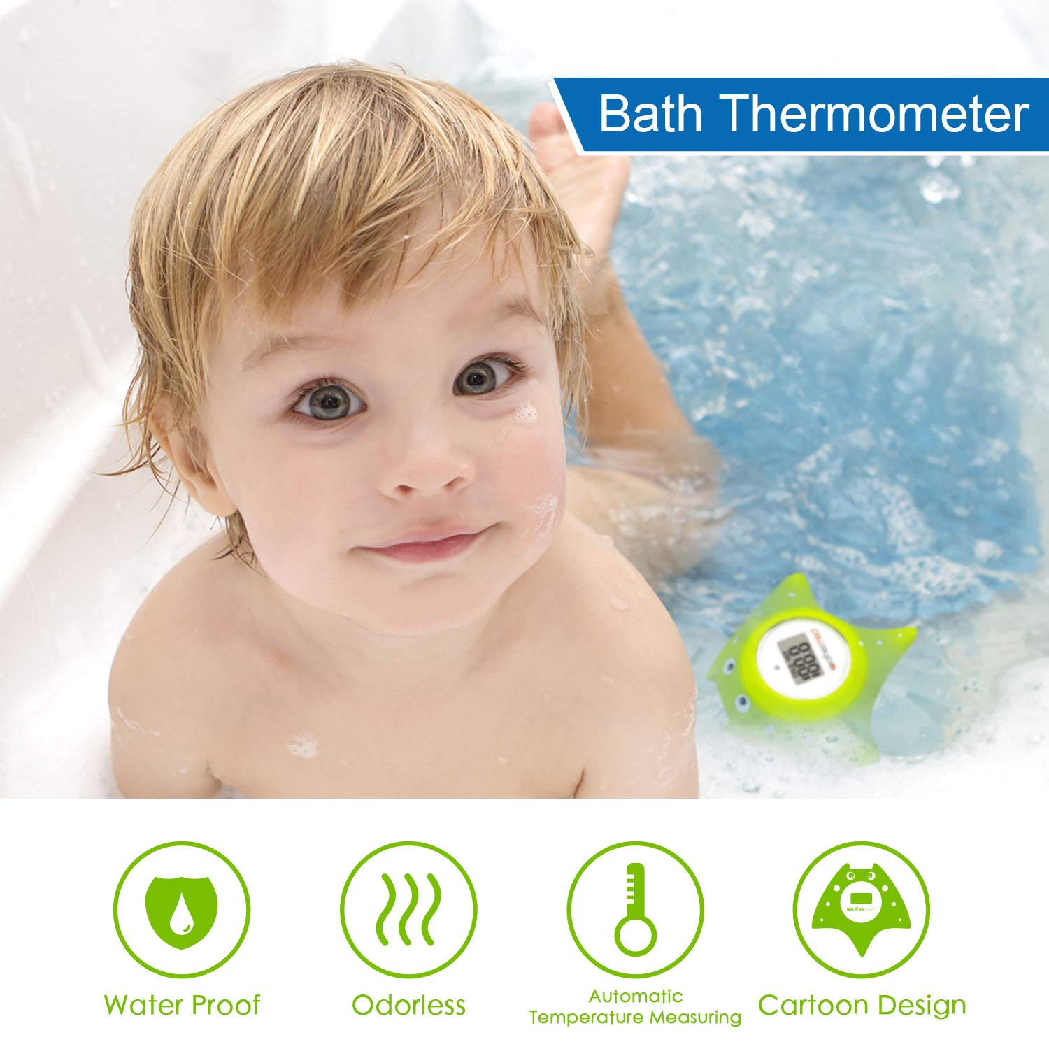 4589e5146 Mothermed Baby Bath Thermometer and Floating Bath Toy Bathtub and Swimming  Pool Thermometer Green Fish: Amazon.co.uk: Baby