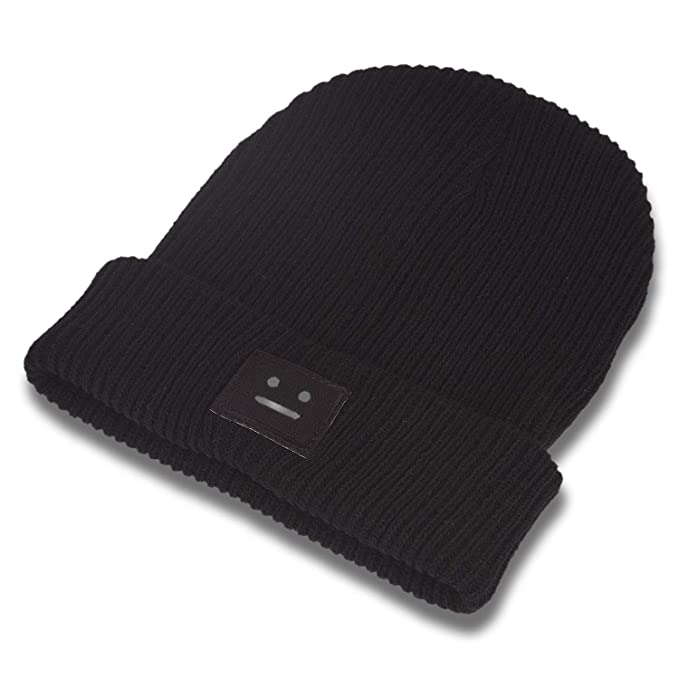 d0f016f155e DRUNKEN Men s Winter Caps for Men Woolen Smiley Plain Skull Beanie Knit Cap  Warm Cap Black Freesize  Amazon.in  Clothing   Accessories