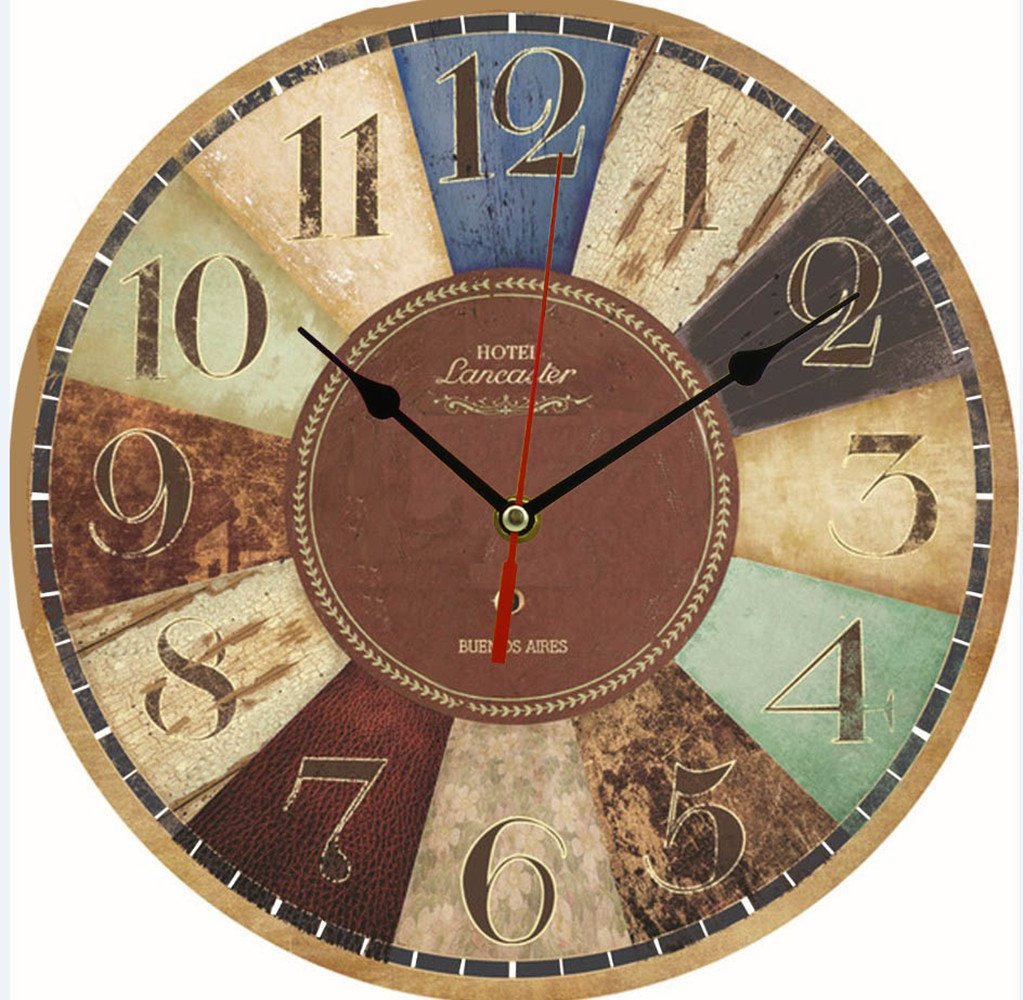 11.8 Inch Clock European Style Creative Wooden Clock Fashion Home Electronic Clock (Hotel lancaster)