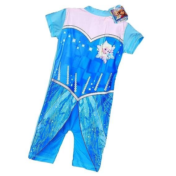 Disney Frozen Princesa Elsa Traje de baño de protección ...