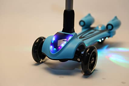 Amazon.com: wonder scooters ajustable 3 ruedas niños scooter ...
