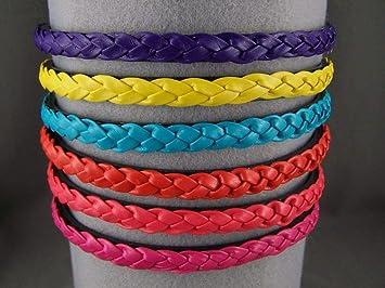 Pink braided headband faux leather braid hair band headband skinny narrow