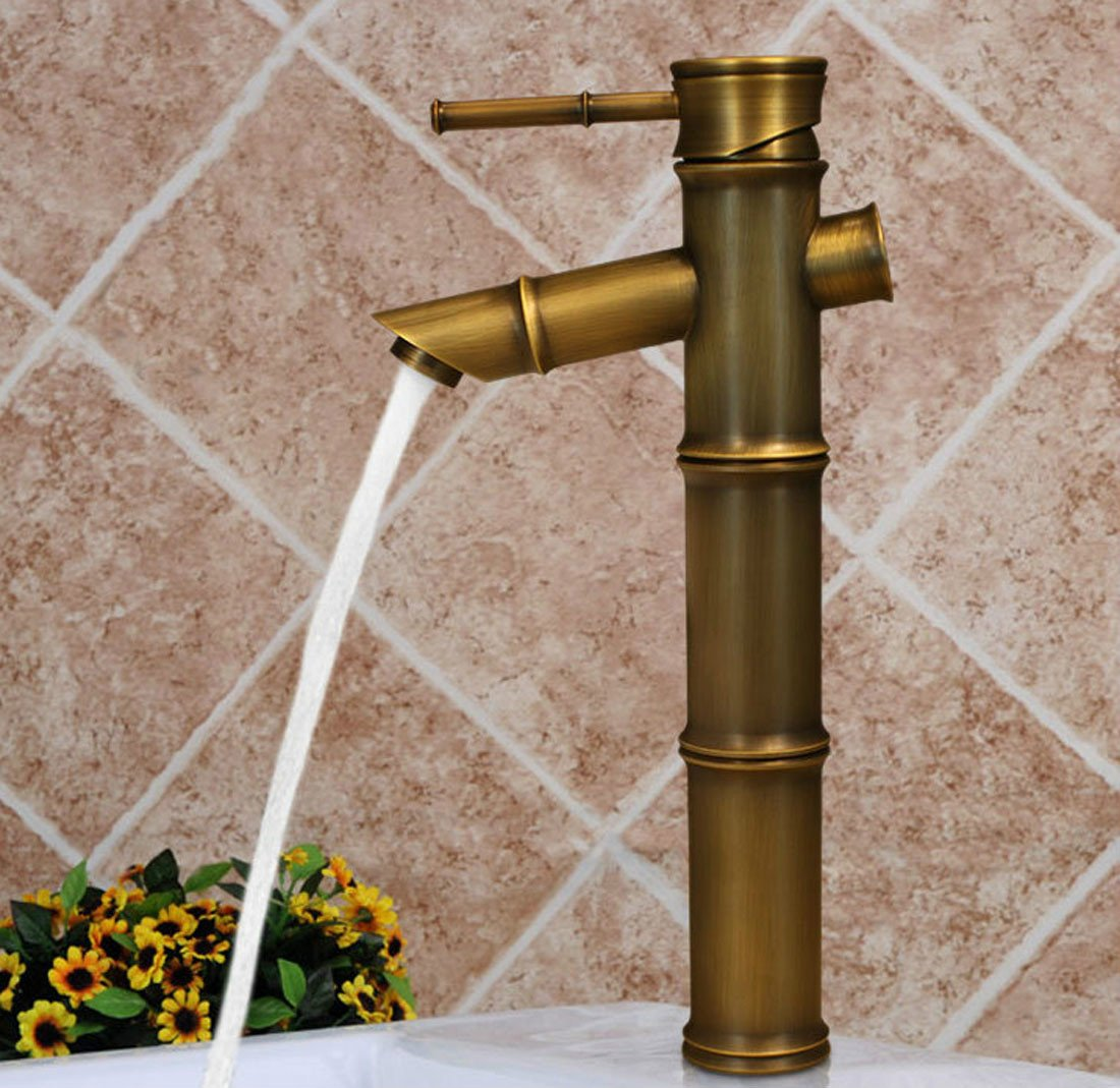 MDRW-Retro single hole basin faucet, bamboo all copper faucet by MDRW