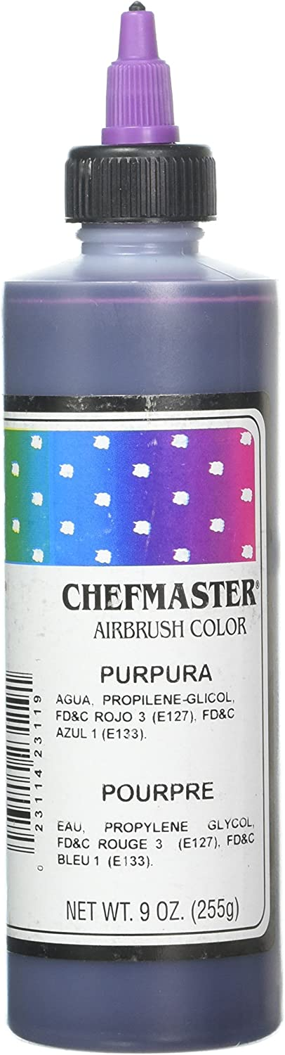 Chefmaster Airbrush Spray Food Color, 9-Ounce, Purple