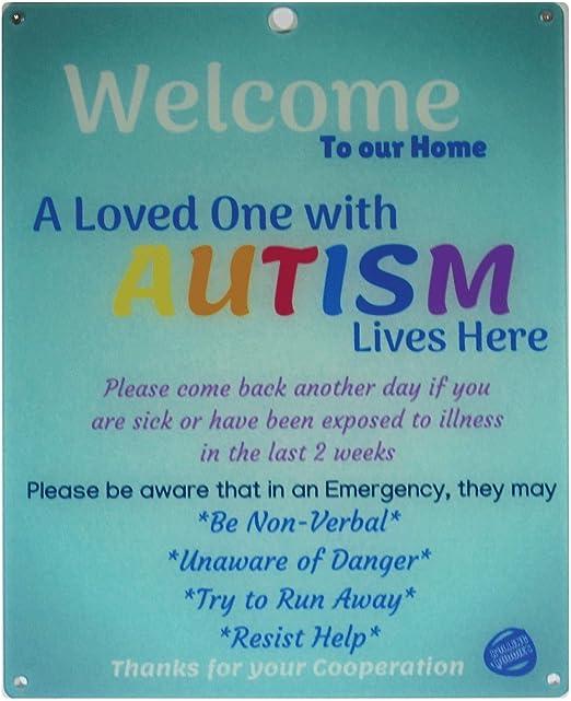 Autism Awareness Plaque Autistic Child Appreciation Gift Sign Quote Saying Idea