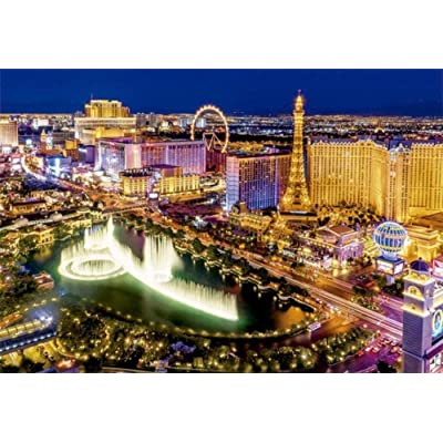 Puzzle 500 Piece Jigsaw Puzzle for Kids Adult Large Floor Puzzle Las Vegas Night View Unique Present Suitable for Teenagers and Adults Gift Home Decoration: Toys & Games