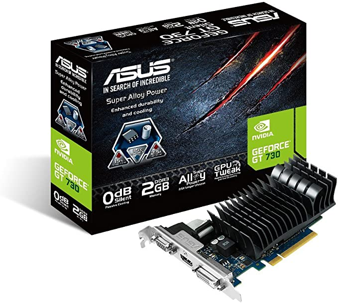 Amazon Asus Nvidia Geforce Gt730搭載ビデオカード ファンレス Gt730 Sl 2gd3 Brk Asustek グラフィックボード 通販