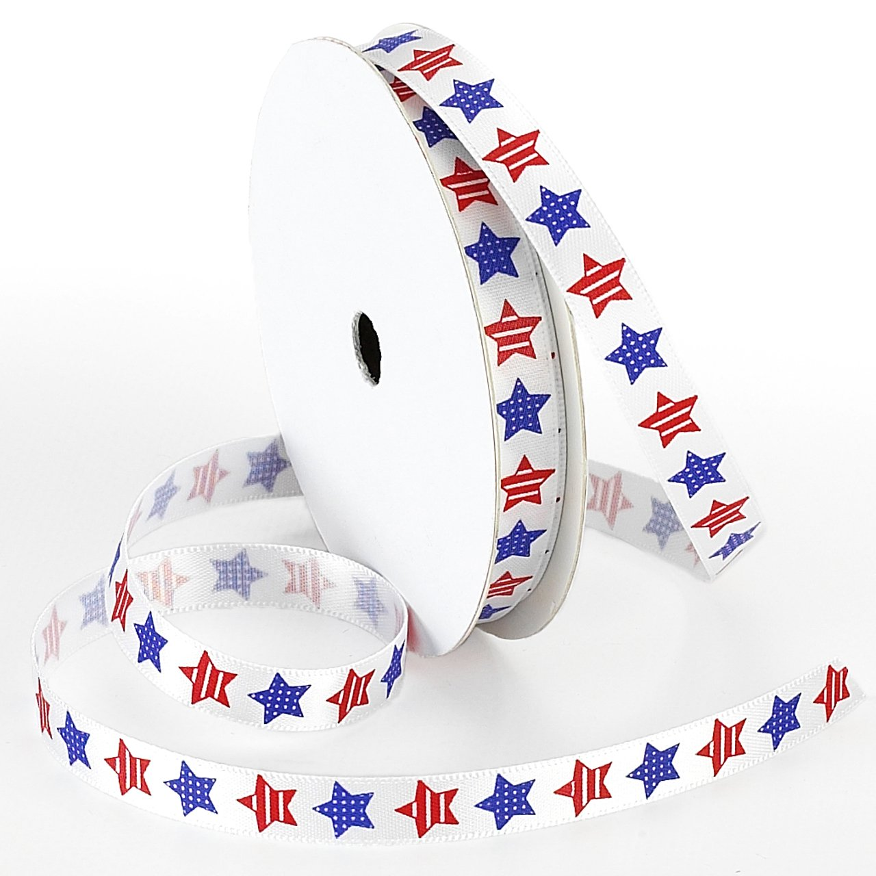 Red//White//Blue 3//8-Inch by 5-Yard Morex Ribbon Betsy Ross Printed Satin Ribbon Spool