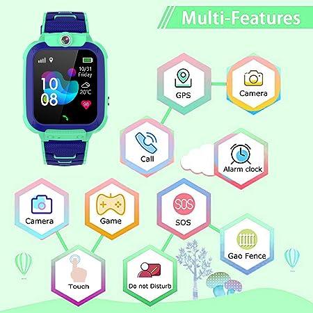 Amazon.com: PTHTECHUS - Reloj inteligente para niños y niñas ...