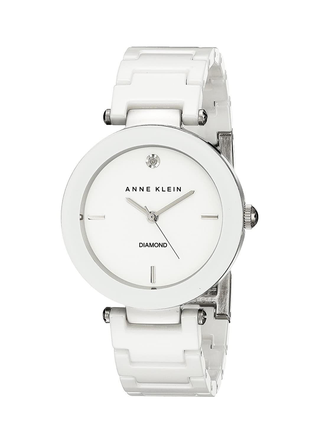 womens watches dknygender dkny round white stone set brand watch plastic dialanaloguse ladies band pin herdkny water resistantwhite