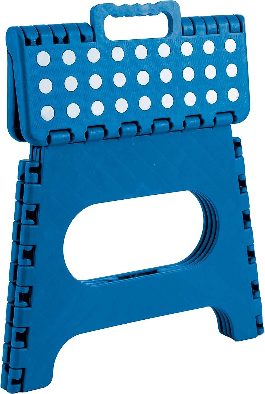 Cocina Uso de Ni/ños Adultos Housolution Taburete Plegable Jard/ín Taburete Plegable Port/átil con Asiento Compacto con Superficie Antideslizante para el Ba/ño en Casa Azul