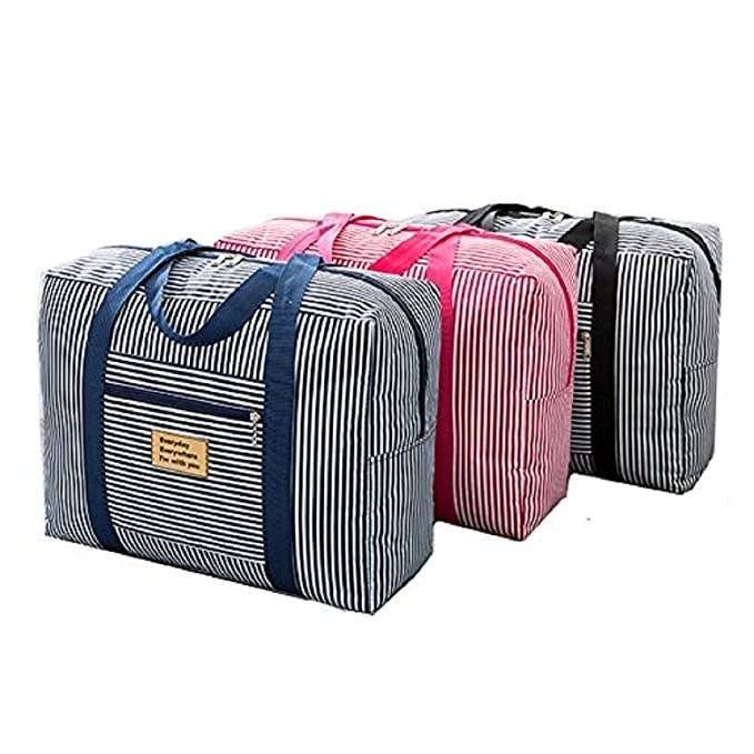 376516dd553b Kriya enterprises New Lightweight FoldableTravel Bag Large Capacity  Waterproof Foldable Big Carry On Luggage Bag - Multi Color  Amazon.in   Sports