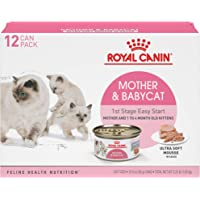 Royal Canin Mother & Babycat Ultra-Soft Mousse in Sauce Wet Cat Food for New Kittens and Nursing or Pregnant Mother Cats