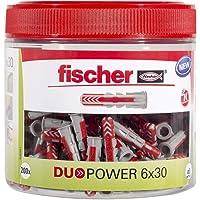 fischer DUOPOWER 6 x 30, handige ronde doos met 200 universele pluggen, krachtige 2-componenten pluggen, kunststof…