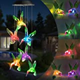 Toodour Solar String Lights, Color Changing Solar Hummingbird Wind Chimes, LED Decorative Mobile, Waterproof Outdoor String Lights for Patio, Balcony, Bedroom, Party, Yard, Window, Garden