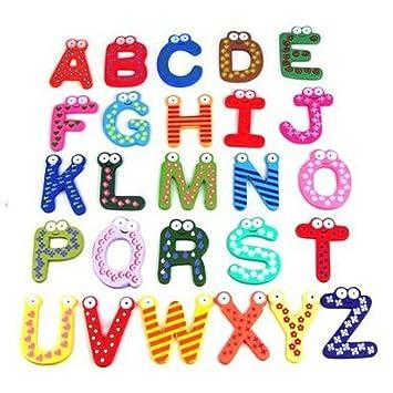 Niceeshop Tm Aimant Multicolore Sous Forme De 26 Lettres De L