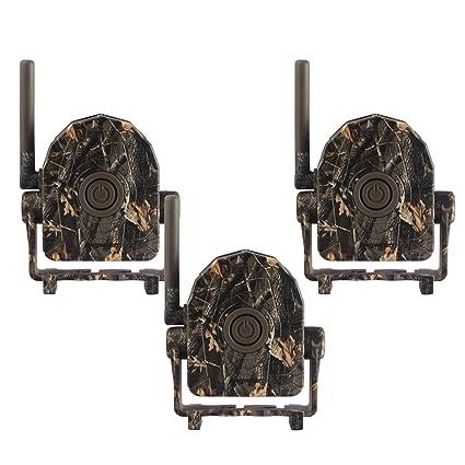 Gemtune 433MHz 360 ° 328 ft Detector de Movimiento inalámbrico Alarma Set Sistema 3 receptores de