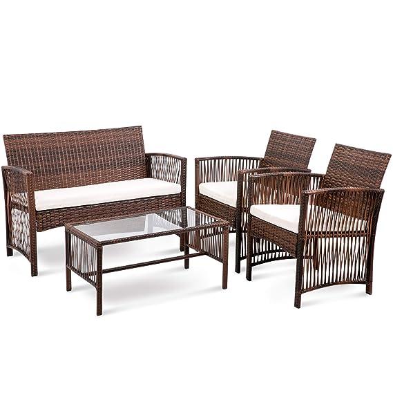 Amazon.com: Merax - Juego de muebles de patio de 4 piezas ...