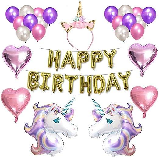 Weimi Happy Birthday Luftballons Deko Kinder Deko Geburtstag Banner