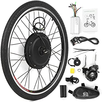 Explopur Kit de Conversión de Bicicleta Eléctrica - 26X1.75 Kit de Conversión de Bicicleta Eléctrica Bicicleta Rueda Trasera Buje Motor Kit 48V 1000W Potente E-Bike Motor Kit Sin Escobillas: Amazon.es: Deportes