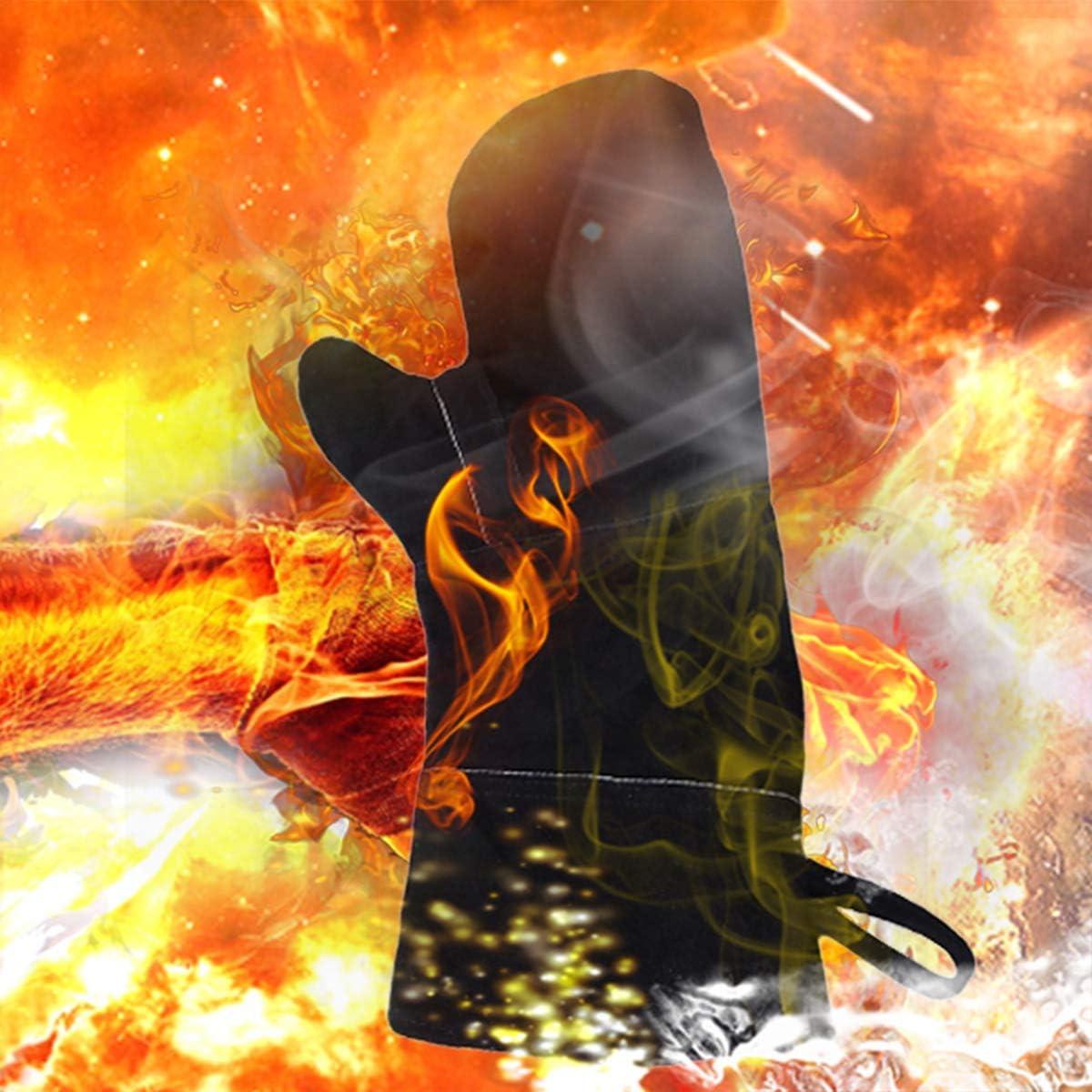 Yardwe Calore Guanti resistenti al fuoco Stufa guanti per forno Grill per barbecue