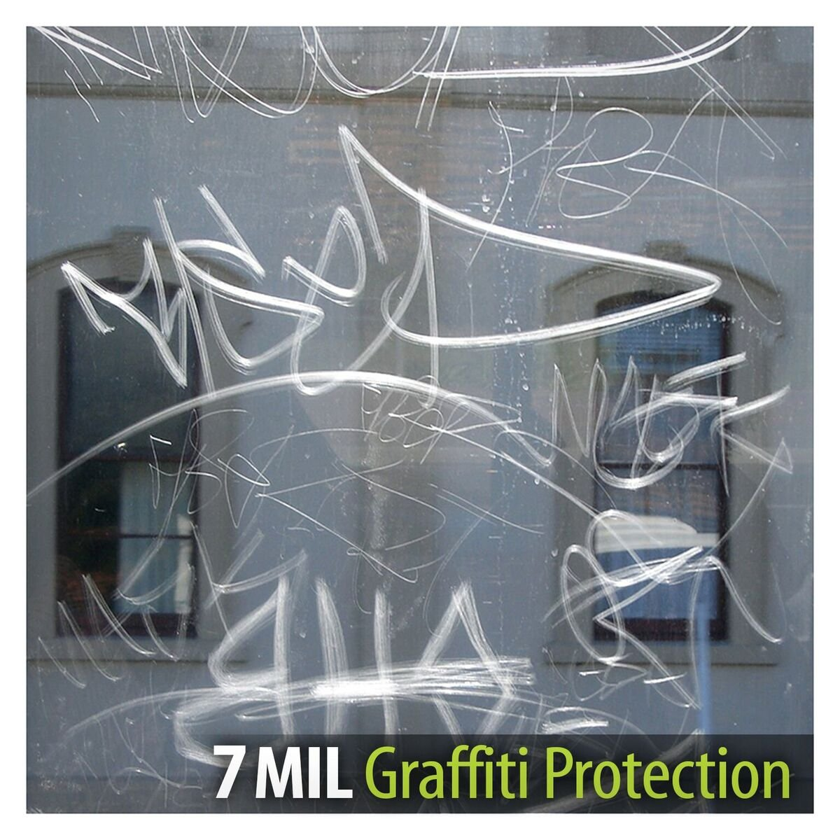 BDF AG7M Window Film Graffiti Protection 7 Mil Clear (60in X 25ft) by Buydecorativefilm (Image #4)