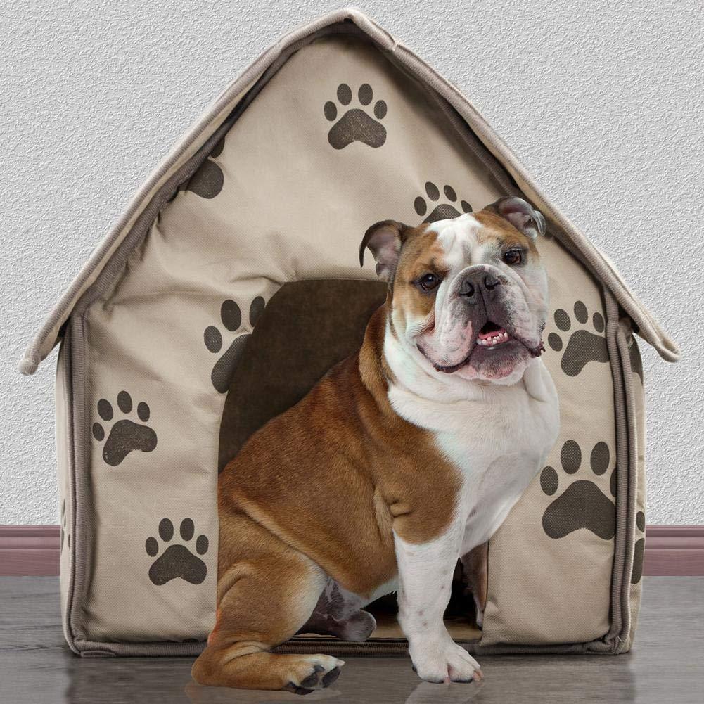 dise/ñado para Perros y Gatos peque/ños Mascotas Gatos Funihut Casitas para Gatos Perros Desmontable Plegable Cama port/átil de ladrillo para Mascotas