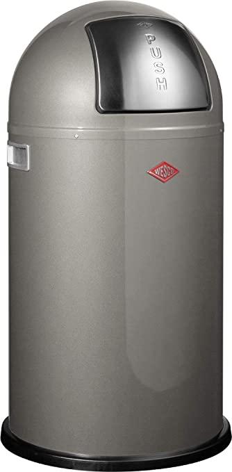 Wesco 175 831 Pushboy Abfallsammler 50 Liter Graphit 40 X 40 X 75 5