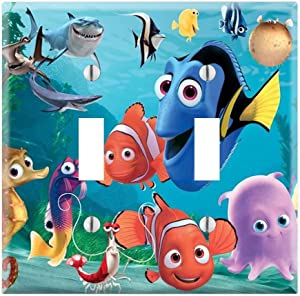 Dual Toggle Wall Switch Cover Plate Decor Wallplate - Finding Nemo Dory