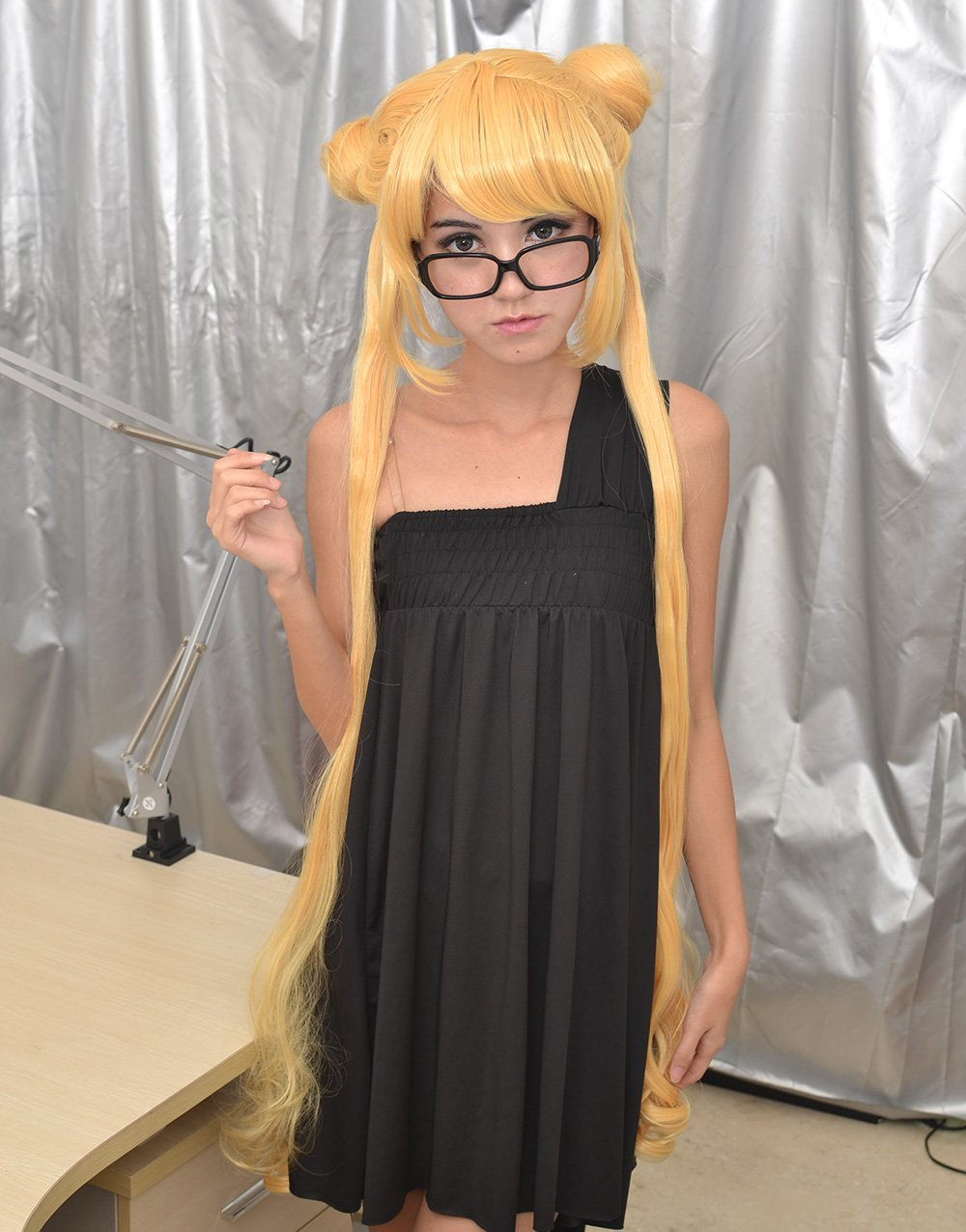 Amazon.com : SureWells Sailor Moon Golden Long Wig 2x Ponytails Wigs Hair Extension : Hair Replacement Wigs : Beauty
