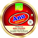 Anu Appalam Papad Plain Indian Papad,400g - Pack of 2
