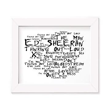 Ed Sheeran Poster Print - X - Letra firmada regalo arte cartel: Amazon.es: Hogar