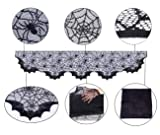 Halloween Decoration Lace Spider Bats Mantel