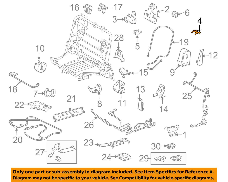 TOYOTA Genuine 72616-60010-C0 Seat Back Lock Striker Cover