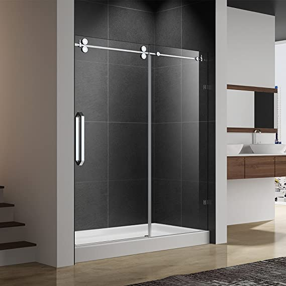 ferdy-03h25 sin marco deslizante para mampara de ducha, 56 – 60 en. W x 75 en. H, 3/8
