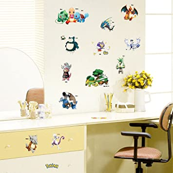 Pokemon Wall Stickers, Nursery Decor Popular Characters Pokemon, Stick Wall  Decals For Childrenu0027s Room