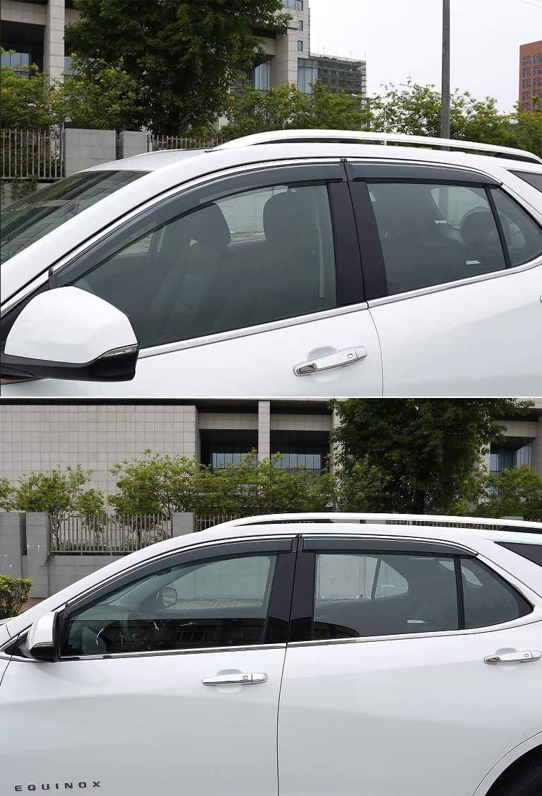For 18-19 Chevy Equinox Window Visor Smoke Guard Shade Polycarbonate W// Trim
