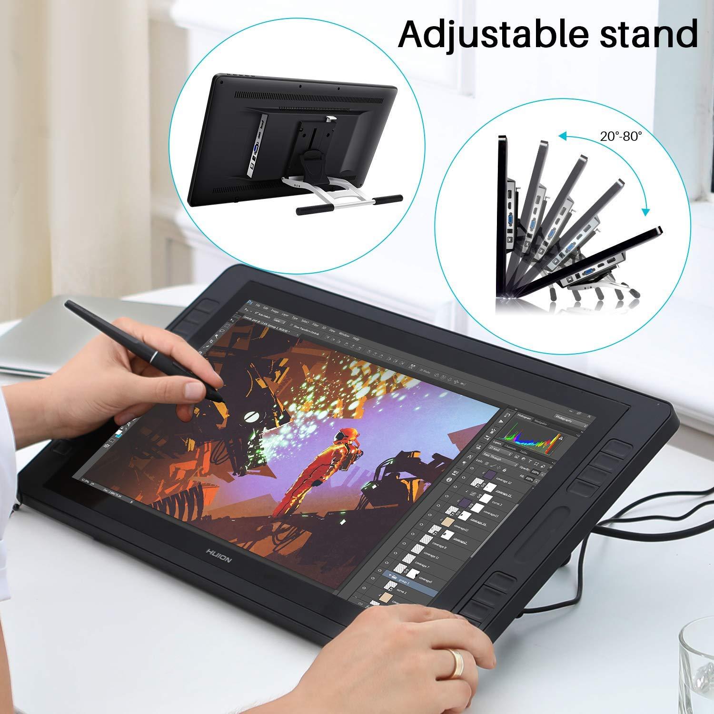 2019 Huion KAMVAS Pro 20 Drawing Monitor Tilt Function BatteryFree Stylus 8192 Pen Pressure with 16