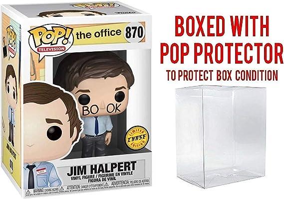 Funko TV: The Office - Jim Halpert Limited Edition Chase Pop! Vinyl Figure (Includes Compatible Pop Box Protector Case)