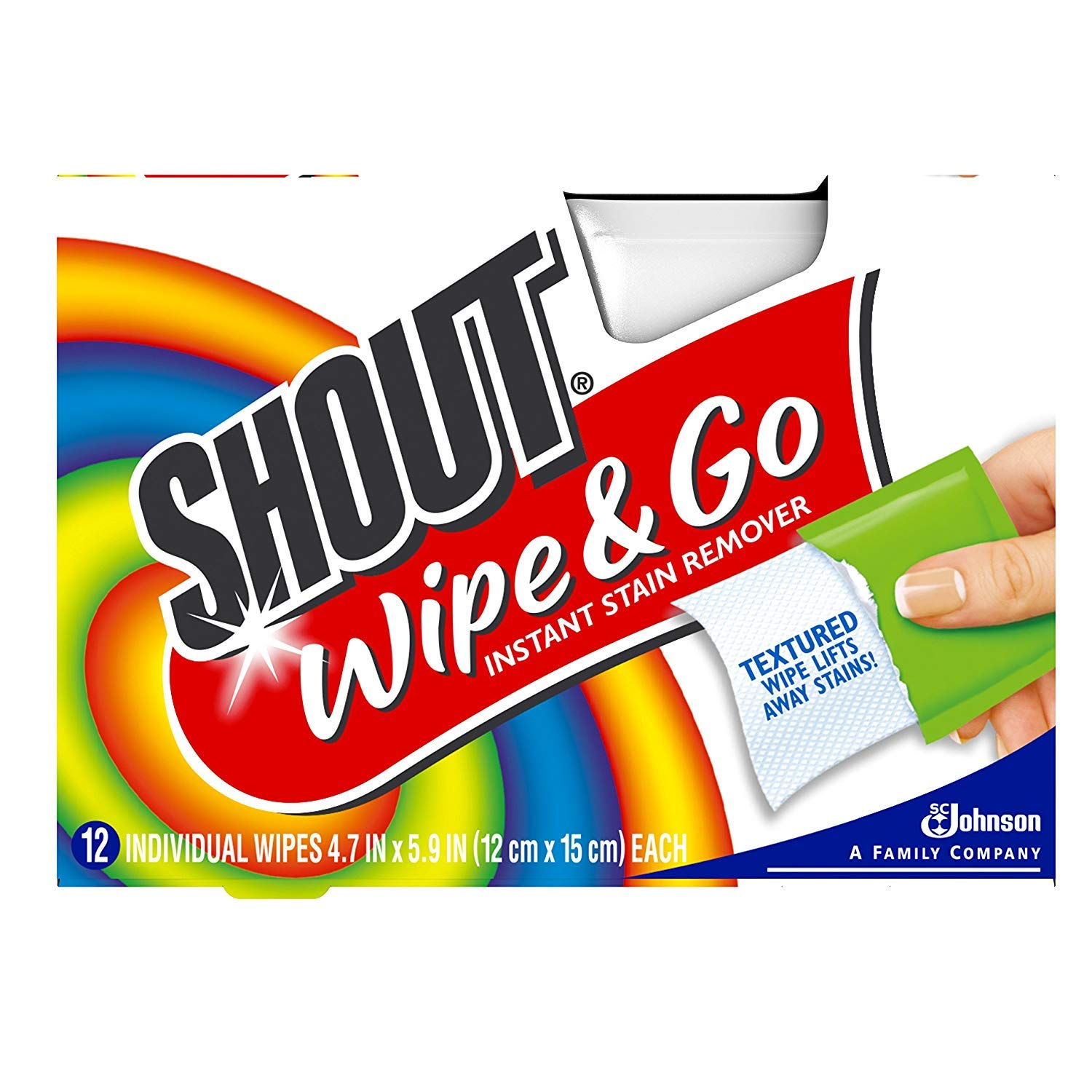 Amazon.com : Shout Wipe & Go Instant Stain Remover - 12 CT : Grocery & Gourmet Food