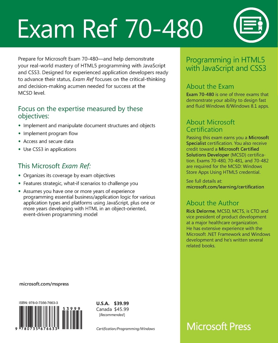 Buy exam ref 70 480 programming in html5 with javascript and buy exam ref 70 480 programming in html5 with javascript and css3 book online at low prices in india exam ref 70 480 programming in html5 with 1betcityfo Images
