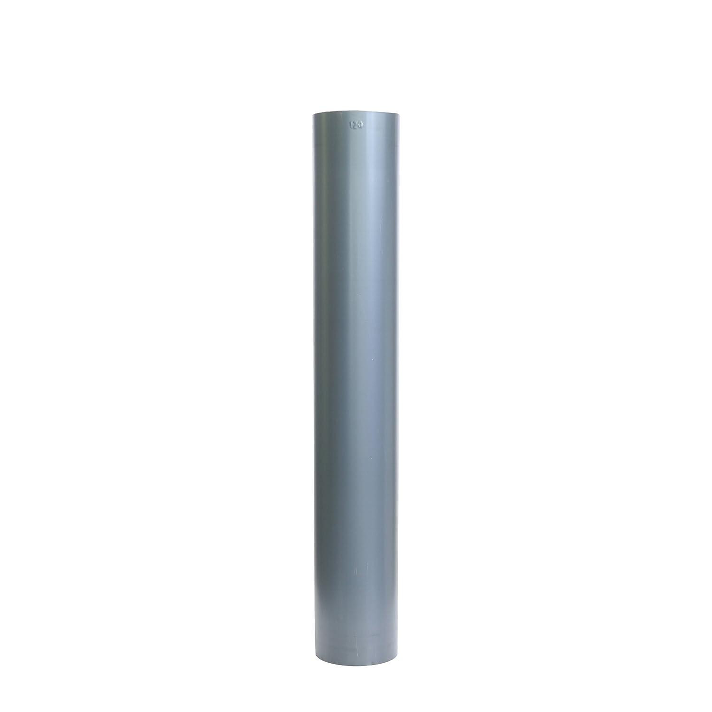 Kamino - Flam - Tubo para chimenea (Ø 120 mm/longitud 750 mm), Tubo para estufa de leña, Conducto de humos - acero resistente a altas temperaturas - durable ...
