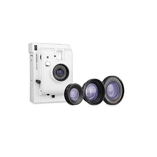 Lomography Lomo'Instant White + 3 Lenses - Instant Film Camera