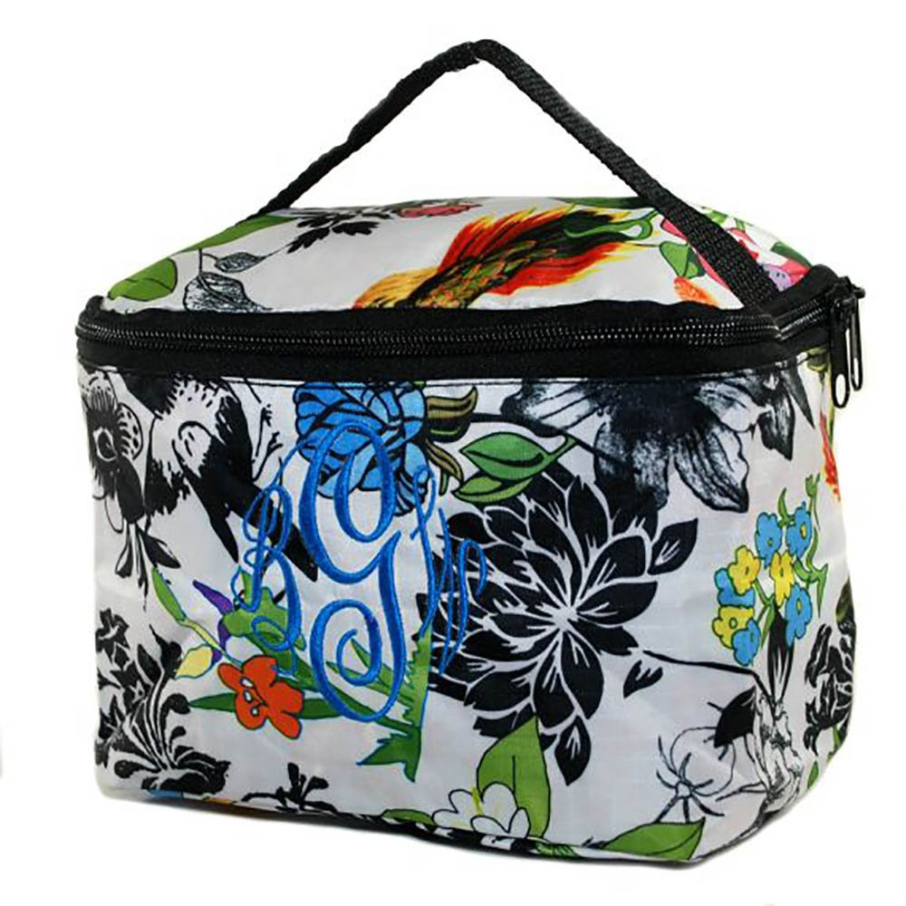 Personalized Womens Floral Flower Mini Cosmetic Bag Makeup Case