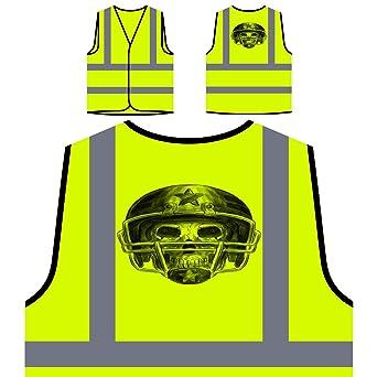 Cráneo con casco de béisbol Deportes Chaqueta de seguridad amarillo personalizado de alta visibilidad a969v