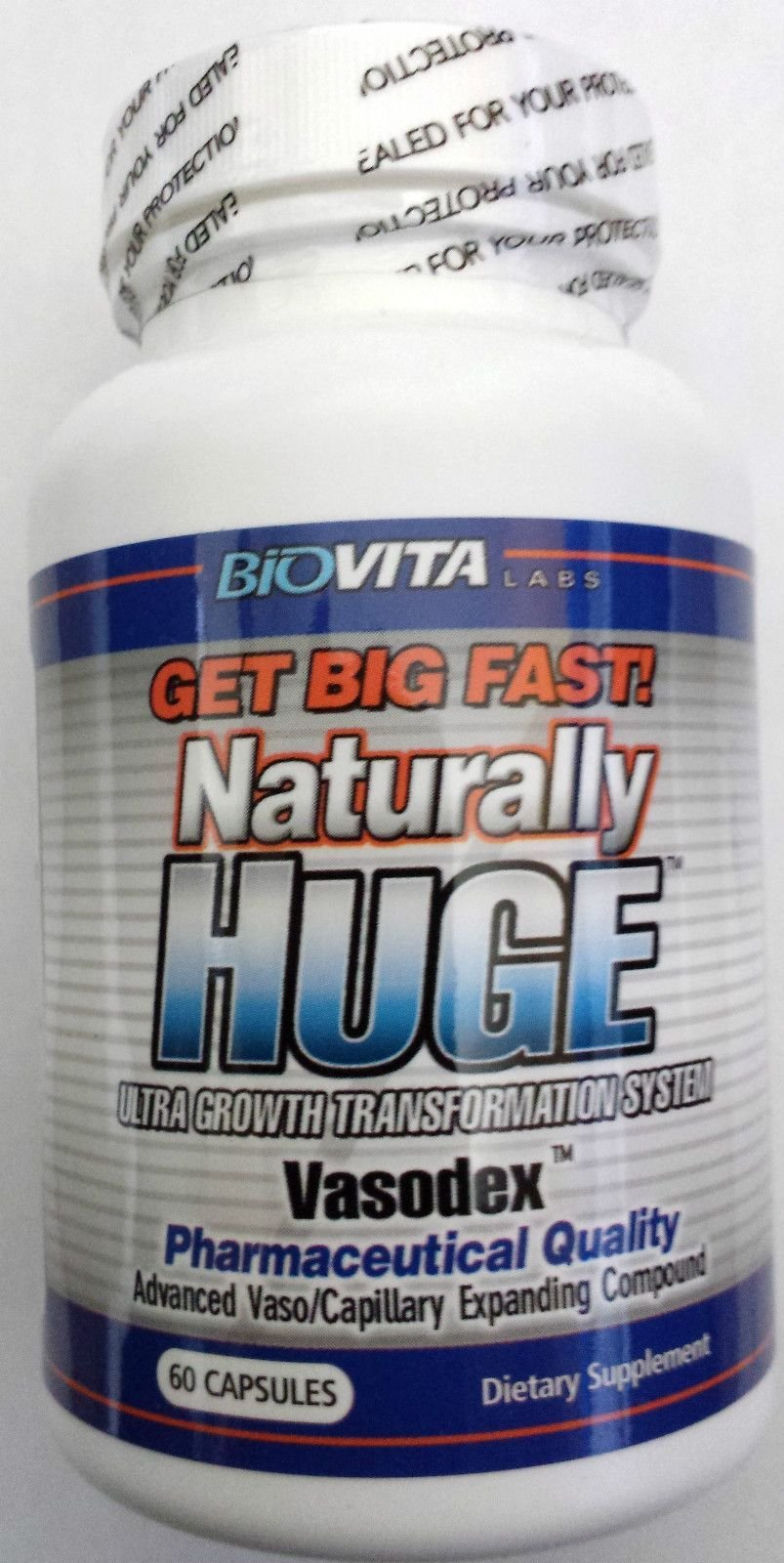 Naturally Huge Male Enhancement pills 1 bottle (1 month supply)