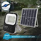 2020 Upgraded 100W Solar Flood Lights Outdoor Led