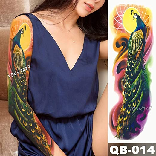 3pcsBig Brazo Manga Tatuaje japonés Ola Impermeable Tatuaje ...