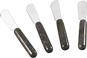 Creative Home Charcoal Marble 4pc Spreaders Set