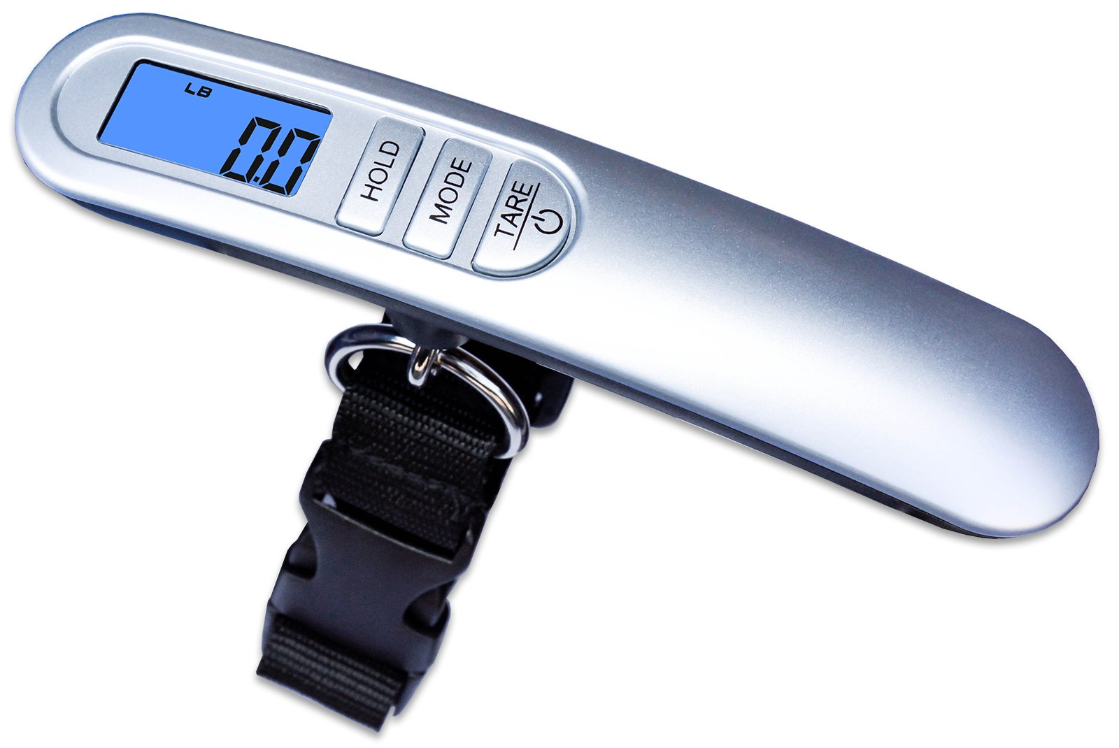 Weighmax HC110 Premium Universal Digital Luggage Scale, 110lb, Silver
